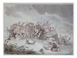 The Mishap, 1806 Giclee Print by  Rowlandson