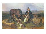 Grouse Shooting, 1848 Giclee Print by Alexander F. Rolfe