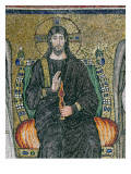 Christ Enthroned with the Angels Giclee Print by  Byzantine School