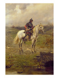 A Roundhead on Horseback Giclee Print by Ernest Crofts