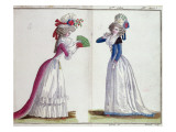 Fashion Plate, 1789 Giclee Print by Jean Florent Defraine