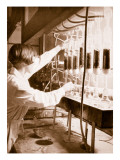 Laboratory Research Work Giclee Print by  German photographer