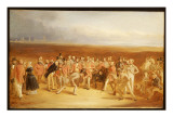 The Golfers: a Grand Match Giclee Print by Charles Lee