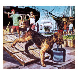The Round-The-World Dog Giclee Print by Barrie Linklater