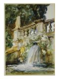 Villa Torlonia, Frascati, 1907 Giclee Print by John Singer Sargent