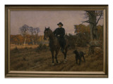 Bismarck on Horseback with Dog Giclee Print by Ernst Henseler