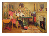 An Attentive Visitor Premium Giclee Print by Walter Dendy Sadler