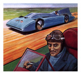 Malcolm Campbell and Bluebird Giclee Print by Robert Brook
