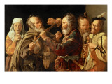 The Beggars' Brawl, C.1620 Giclee Print by Georges de La Tour
