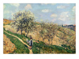 Springtime at Bougival Giclee Print by Alfred Sisley