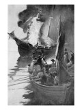 Burning of the 'Gaspee' Giclee Print by Howard Pyle