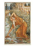 Midas with the Pitcher Premium Giclee Print by Walter Crane