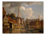 The Kleine Alster in 1842, 1842 Reproduction proc&#233;d&#233; gicl&#233;e par Adolf Vollmer