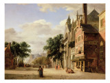 A Capriccio of a Town Square Giclee Print by Jan Van Der Heyden