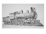 A Schenectady Locomotive Reproduction procédé giclée par American School