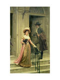 My Next-Door Neighbour, 1894 Giclee Print by Edmund Blair Leighton