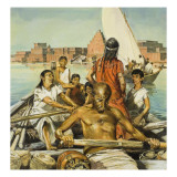 Slaves Rowing at Babylon Giclee Print by Neville Dear