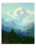 Mount Mckinley Premium Giclee Print by Sidney Laurence
