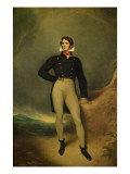 Portrait of Captain Caulfield Giclee Print by George Henry Harlow