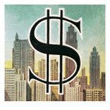 Sign for the Us Dollar Giclee Print by  English School
