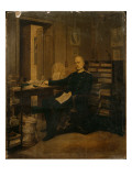 Otto Von Bismarck in His Study Giclée-tryk af German School