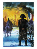 Napoleon Watching Moscow Burn Reproduction procédé giclée par Andrew Howat