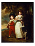 Portrait of the Vernon Children Giclee Print by  Romney