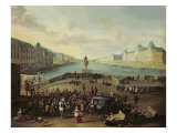 The Pont Neuf, Paris, 1665-69 Giclee Print by  Flemish School