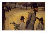 Place De La Concorde, 1875 Giclee Print by Edgar Degas