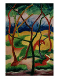 Weasels Playing, 1911 Premium Giclee Print by Franz Marc