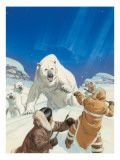 Polar Bears and Eskimos Giclee Print by Mcbride