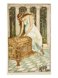 Pandora Desires to Open the Box Giclee Print by Walter Crane