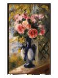 Roses in a Blue Vase, 1892 Giclee Print by Pierre-Auguste Renoir