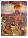 Eruption of Vesuvius Reproduction procédé giclée par John Millar Watt