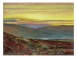 A Lake Landscape at Sunset Premium Giclee Print by  Grimshaw