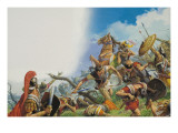 The Battle of Cannae in 216 Bc Giclee Print by Severino Baraldi