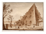 The Pyramid of C.Cestius, 1833 Giclee Print by Agostino Tofanelli