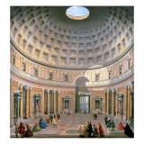Intérieur du panthéon, Rome Reproduction procédé giclée par Giovanni Paolo Pannini