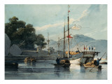 Shipping on a Chinese River Giclee Print by George Chinnery