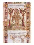 Tellus, from Exultet I, C.1030 Giclée-tryk af Italian School