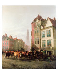 The Old Smithfield Market, 1887 Giclee Print by Thomas Sidney Cooper