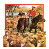 Australian Sheep Farmer Giclee Print by Clive Uptton