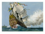The Swedish Warship 'Vasa' Giclee Print by Ralph Bruce