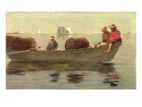 Three Boys in a Dory, 1873 Giclee Print by Winslow Homer