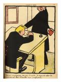 A Teacher Reprimands His Pupil Giclee Print by Félix Vallotton