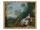 Une Conversation Galante Giclee Print by Jean-Baptiste Pater