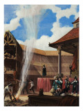 Puritans Destroying a Theatre Giclee Print by Ralph Bruce