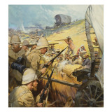 Boer War Skirmish Giclee Print by McConnell