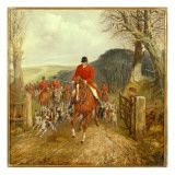 A Hunt Going Through a Gate Giclee Print by Henry Thomas Alken