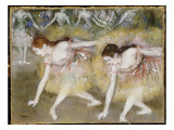 Dancers Bending Down Giclee Print by Edgar Degas